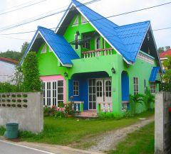 Färgglad hus