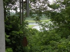 Utsikt över Mekong vid Sangkhom