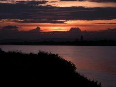 Ännu en vacker skymmning över Mekongfloden