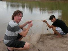 Nätfiske i Mekong