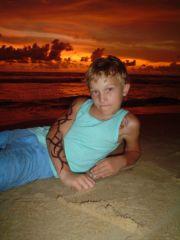 Strandbild - Solnedgång
