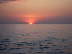 Lanta solnedgång