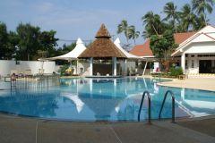 En poolbild från hotellet