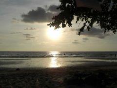 Solnedgång White sands