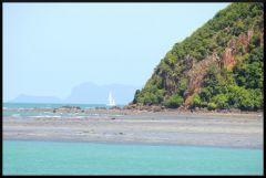 Segelbåt utanför Thongsala